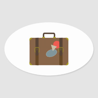 Luggage Case Oval Stickers