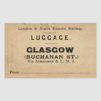 Luggage Glasgow Sticker