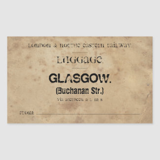 Luggage Glasgow (To customize) Sticker