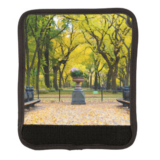 Luggage Handle - Central Park in Autumn, New York Luggage Handle Wrap