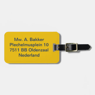 luggage label yellow tag for bags