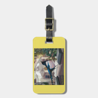 Luggage or purse tag with Magpie