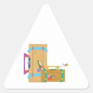 Luggage Triangle Sticker