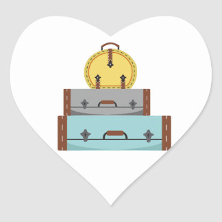 Luggage Heart Stickers