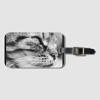 Luggage / Suitcase tag / lable, cat picture