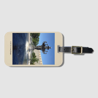 Luggage Tag: Bartholdi Fountain, Washington, DC Luggage Tag