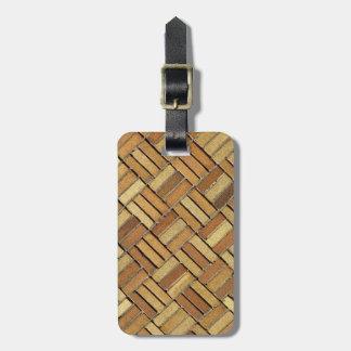 Luggage tag - Brick pattern
