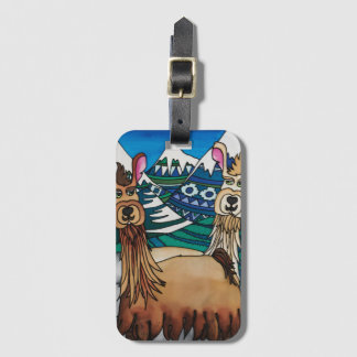 Luggage Tag / Business Card Slot: Alpaca Series