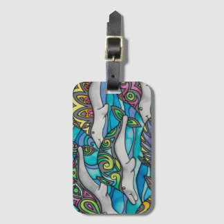 Luggage Tag / Business Card Slot: Dolphin Series
