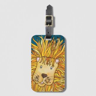 Luggage Tag / Business Card Slot: Lion Series