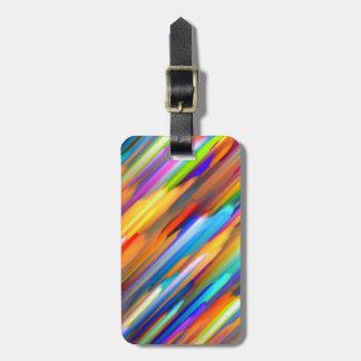 Luggage Tag Colorful digital art splashing G391