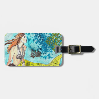 Luggage Tag CUSTOMIZE  Tranquil Waters Mermaid
