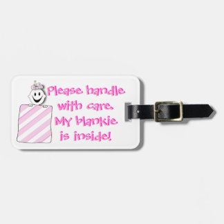 Luggage Tag; Diaper Bag Tag: Handle with Care Luggage Tag