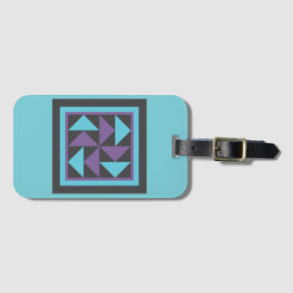 Luggage Tag - Flying Dutchman Quilt Block