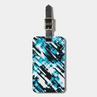 Luggage Tag Hot BlueBlack abstract digitalart G253