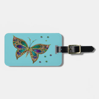 Luggage Tag--Mosaic Butterfly Luggage Tag
