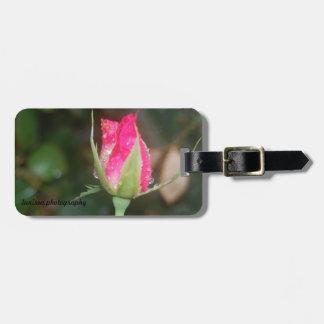 Luggage Tag:  Pink Rosebud Travel Bag Tag