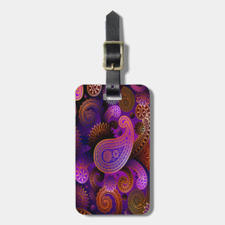 Luggage Tag/Purple Paisley Luggage Tag