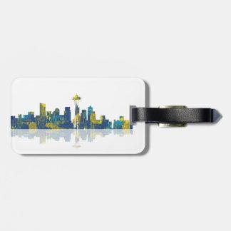 Luggage Tag - Seattle Skyline