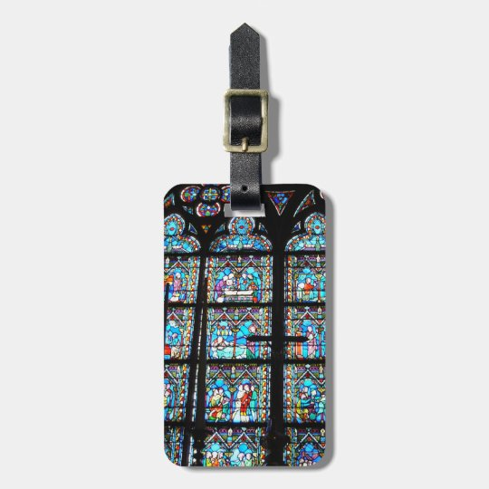 Luggage Tag--Stained Glass at Notre Dame Bag Tag