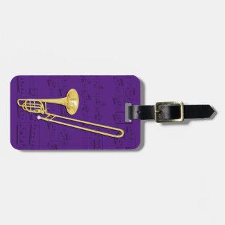 Luggage Tag - Trombone (bass) - Choose color