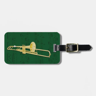 Luggage Tag - Trombone (valve) - Choose colour