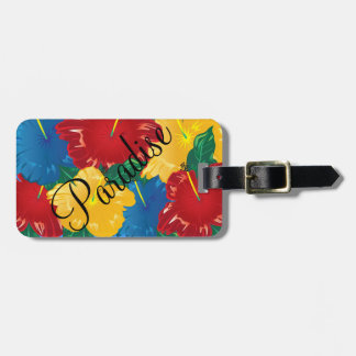 Luggage Tag - Tropical Hibiscus Flowers
