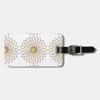 Luggage Tag w/ leather strap GEOMETRIC CIRCLE FLOW