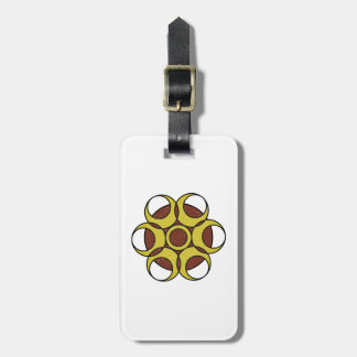 Luggage Tag w/ leather strap GRUNGE CIRCLE LOGO
