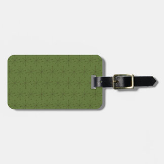 Luggage Tag w/ leather strap MIDCENTURY MODERN ST