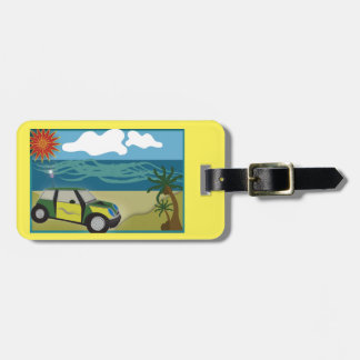 Luggage Tag w/ leather strap MINI VACATION