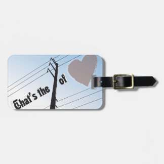Luggage Tag w/ leather strap POWER OF LOVE SILOUET