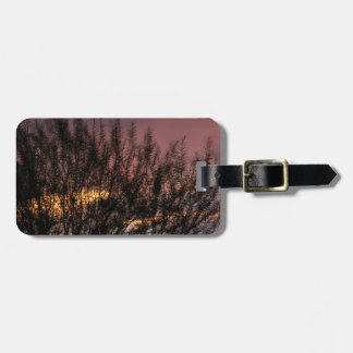 Luggage Tag w/ leather strap SUNSET TREE PHOTOGRAP