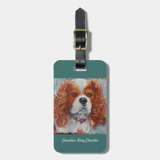 luggage tag with Cavalier King Charles