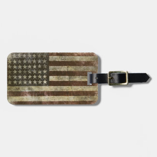 Luggage Tag with Cool United States Flag