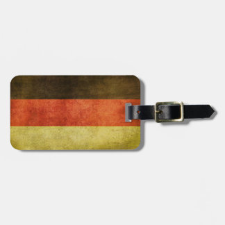 Luggage Tag with Dirty Vintage Flag from Germany