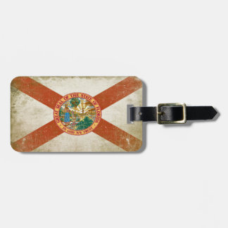 Luggage Tag with Distressed Flag from Florida