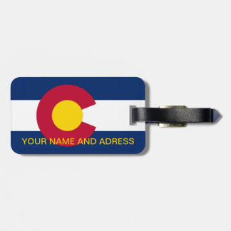 Luggage Tag with Flag of Colorado, USA