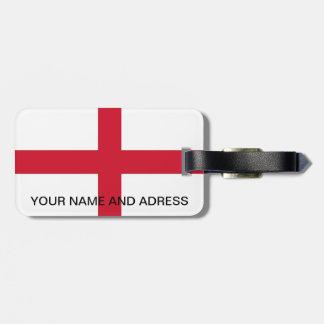 Luggage Tag with Flag of England