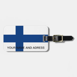 Luggage Tag with Flag of Finland