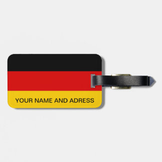 Luggage Tag with Flag of Germany