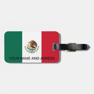 Luggage Tag with Flag of Mexico