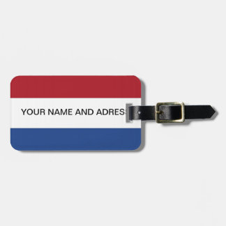 Luggage Tag with Flag of Netherlands