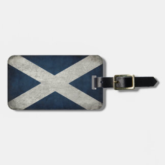Luggage Tag with Flag of Scotland