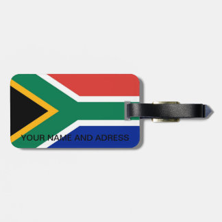 Luggage Tag with Flag of South Africa