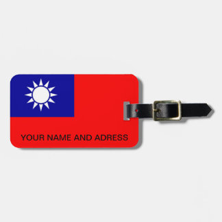 Luggage Tag with Flag of Taiwan