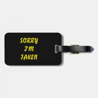 luggage tag with funny text