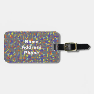"Luggage Tag with ""Geo-Crazy"" design"