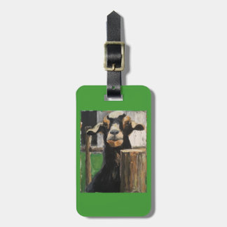 Luggage tag with goat