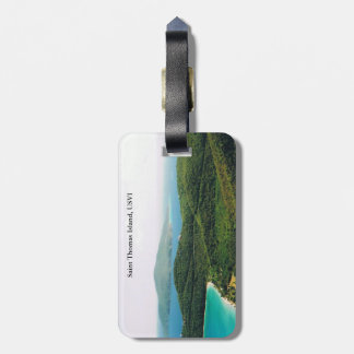 Luggage Tag with Island Scene